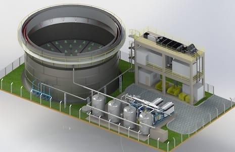 Estação de tratamento de esgoto e Efluente Industrial ETE Combinada