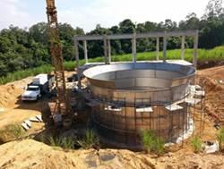 Estação de tratamento de esgoto doméstico ou ETE Cecap Piracicaba para 10.000 habitantes com capacidade de 22 Litros por segundo